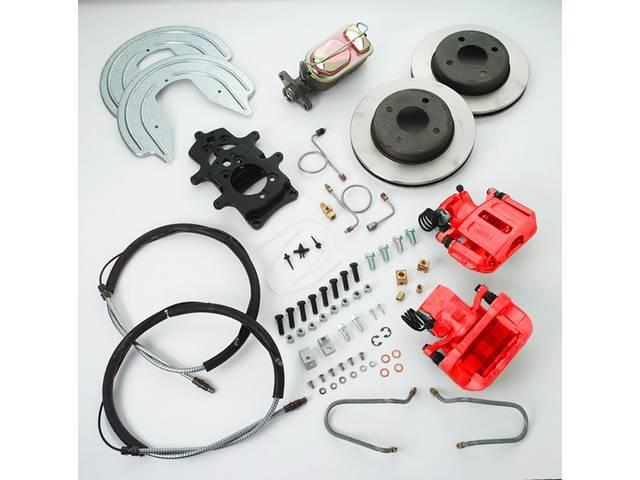 SSBC USA Rear Disc Brake Conversion Kit 87-92 (STD Rotors/Red Calipers)