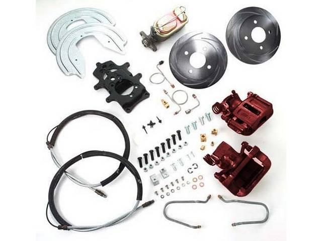 SSBC USA Rear Disc Brake Conversion Kit 87-92 (Upgrade Rotors/Red Calipers)