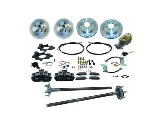 SSBC USA 5 Lug 4 Wheel Disc Brake Conversion Kit 87-92 (STD Rotors/Black Calipers)