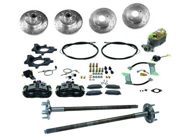 SSBC USA 5 Lug 4 Wheel Disc Brake Conversion Kit 87-92 (Upgrade Rotors/Black Calipers)