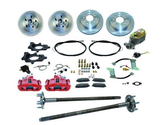 SSBC USA 5 Lug 4 Wheel Disc Brake Conversion Kit 87-92 (STD Rotors/Red Calipers)
