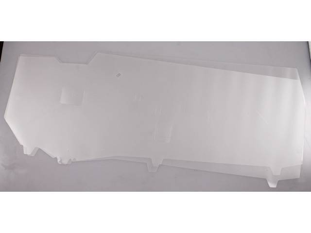 Watershields, Door Trim, Plastic Style, (2) Incl Rh And Lh Side, Designed To Seal Out Moisture And Protect Door Panels, Adhere With 3m8509 Compound