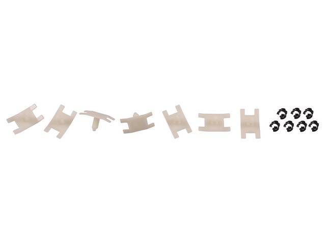 Mounting Kit, Door Window Molding Outer, Complete, Does