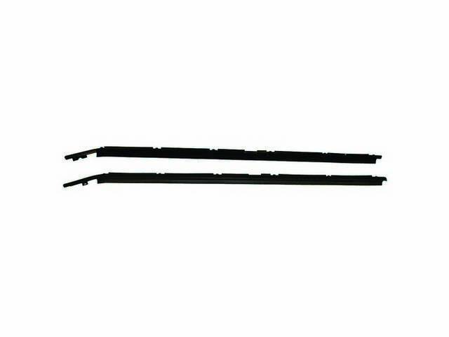 Moldings, Door Window, Outside Lower, Black, Pair, Incl Weatherstrip, Repro, These Are Replacement Style Due To The Fact That 79-83 Was Black In Color And 85-86 Was Charcoal
