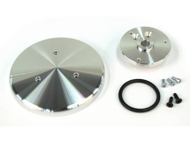 Pulley Cover, A/C, March Performance, Billet Aluminum, Clear