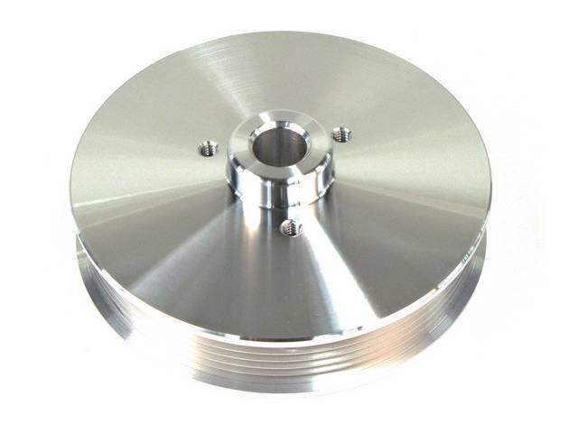 Pulley, P/S, March Performance, Billet Aluminum, Clear Powdercoated,
