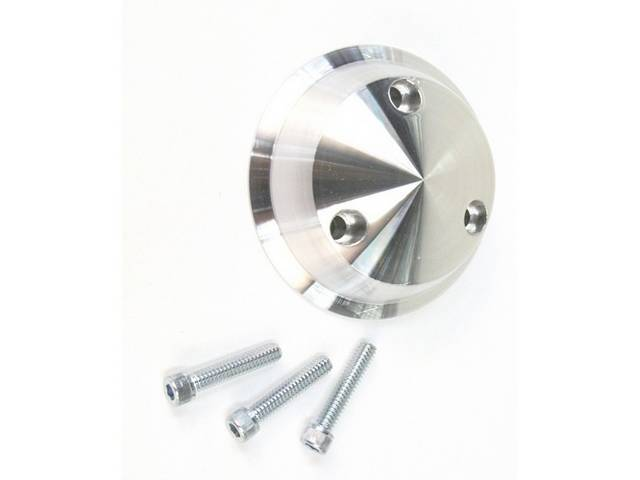 Pulley Cover, P/S, March Performance, Billet Aluminum, Clear