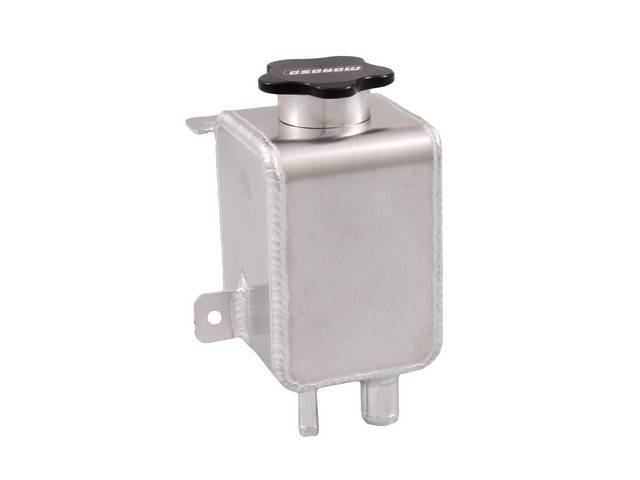 Reservoir Assy, P/S Pump Auxiliary, Moroso, Aluminum Construction For Strength And Lightweight, Factory Direct Bolt In, Incl Cap And Hardware
