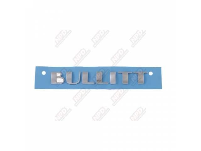 ORNAMENT REAR DECK BULLITT CHROME ORIGINAL XR3Z-6342528-CA Ford