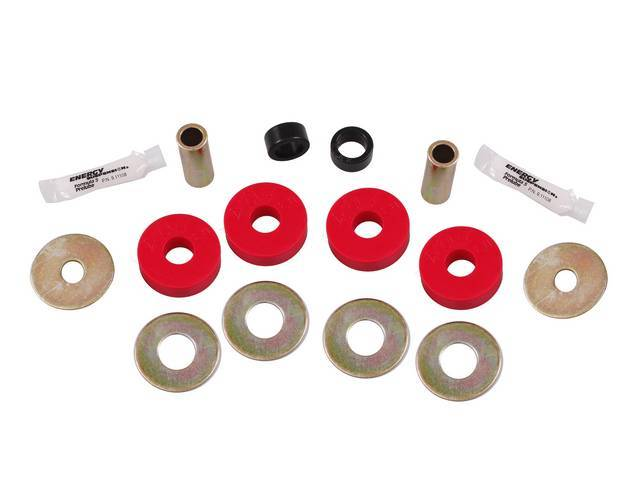 Bushing Set, Irs Differential, Rear, Steeda, Black, Incl Bushings, Washers, Sleeve Inserts, Does Both Side