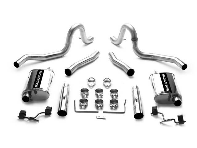 Exhaust Kit, Cat Back, Magnaflow, 2 1/2 Inch Pipes, Incl All Stainless Steel Inlet And Outlet Pipes And Performance Mufflers, 3 Inch Rear Tailpipes
