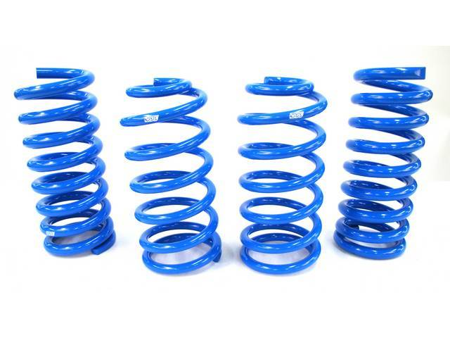 Coil Spring Set, Specific Rate, Bbk Performance, Blue Powder Coat Finish, 1 1/2 Inch Lowering Height May Vary Due To Options, Repro