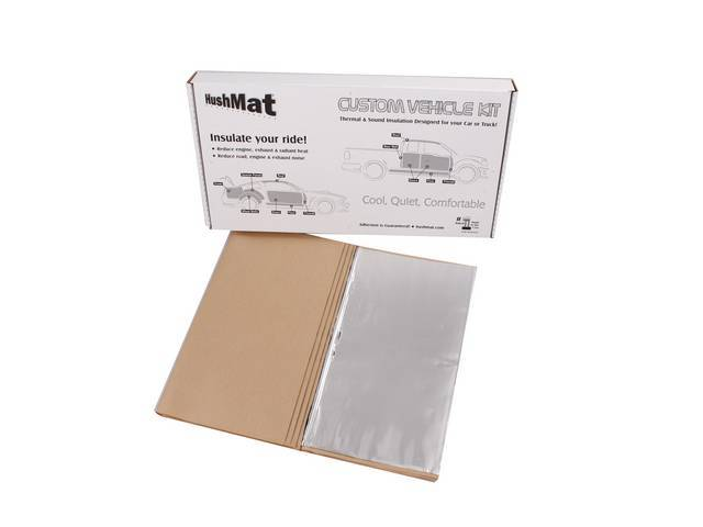 Roof / Headliner Kit, Hushmat, Silver Backing, Self