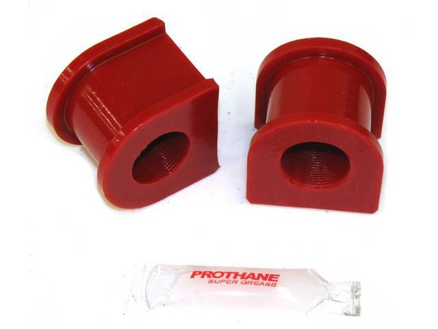 Insulators, Front Sway Bar, W/ 1 Inch Bar, Prothane, Red, These Are Performance Urethane Bushings. Must Reuse Your Factory Brackets