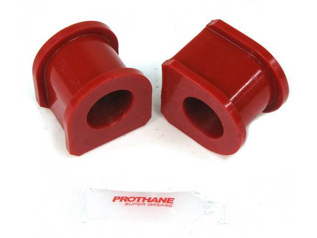 Insulators, Front Sway Bar, W/ 1 1/16 Inch Bar, Prothane, Red, These Are Performance Urethane Bushings. Must Reuse Your Factory Brackets