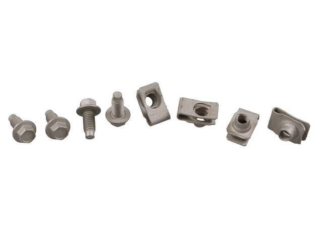 Mounting Kit, Tailpipe Bracket And Insulator Assy, Incl (4) Correct Style Bolts, (4) Correct Style Nut Assy, Designed To Mount Both Side Into Frame