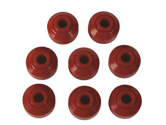 Bushing Kit, Front End Link, Prothane, Red, Incl (8) Bushings, Designed To Work With Stock Hardware