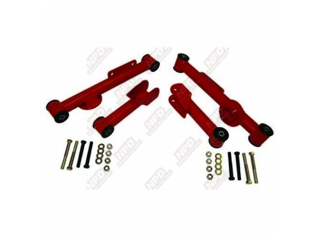 CONTROL ARM KIT UPPER AND LOWER RED INCL