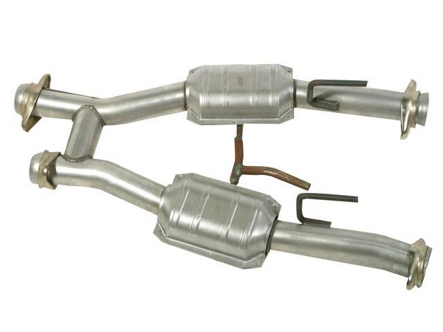 H-Pipe, Street Legal, Short Style, Bbk Performance, 15 Gauge 2 1/2 Inch Aluminized Tubing, Oem Style Flanges, Incl Factory Oxygen Sensor And Air Pump Fittings, Repro