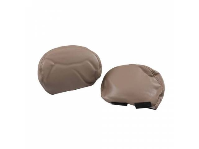 Headrest Covers, 4 Way Adjustable, Pair, Oe Style,