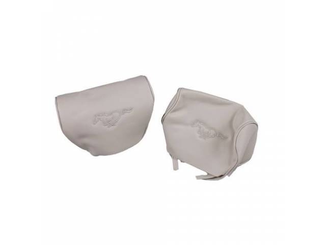 Headrest Covers Feature Car Style Pair Oe Style