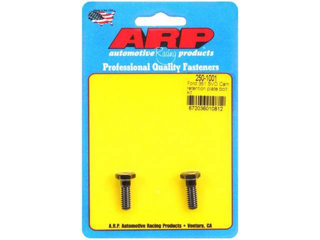 Bolt Kit, Thrust Plate Retainer, Arp Racing, Black Oxide Finish, Pro Series, Incl (2) 7/16 Inch Hex Head Style Bolts, 1/4-20 Thread Size, Heat Treated, Forged From Aerospace Alloy, 200,000 Psi Rating