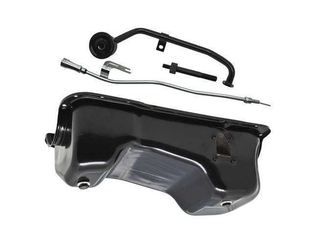 Conversion Kit, 351w Oil Pan, Black Finish, Steel,