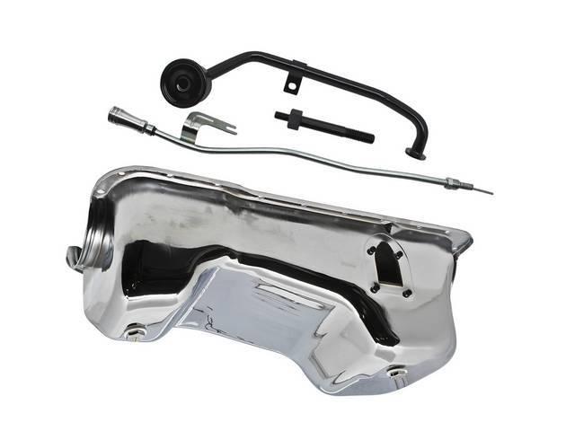 Conversion Kit, 351w Oil Pan, Chrome Finish, Steel,