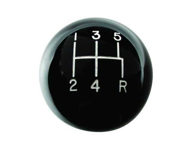 Knob, Shift Handle, Black Ball Style, Hurst, High