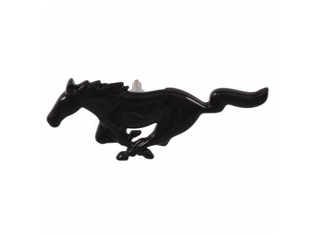 Ornament Radiator Grille Running Horse Gloss Black Die
