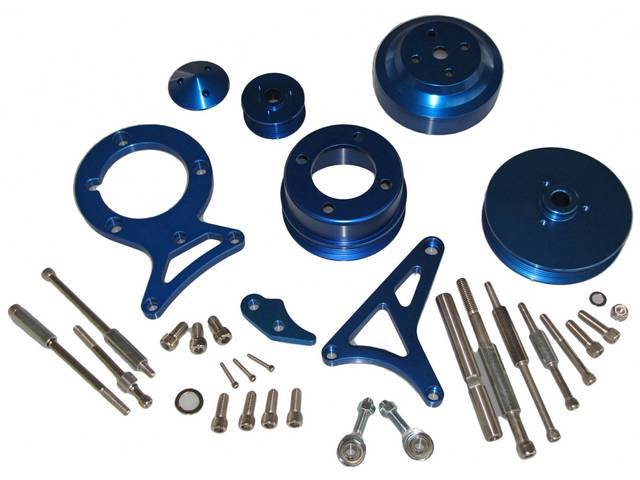 Bracket And Pulley Kit, Complete, Blue, Incl Power