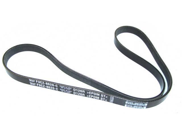 Belt, Serpentine, 27/32 Inch X 54 1/2 Inch, Original, Prior Part Number E3zz-8620-B, Mtc Jk6-544, F1cz-8620-E