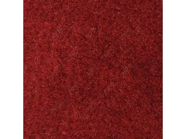 CARPET STANDARD CUT PILE NYLON MOLDED SCARLET RED