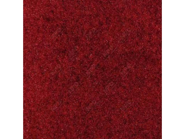 Carpet, Standard Cut Pile Nylon, Molded, Medium Red,