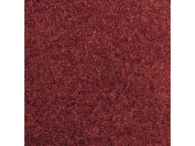 Carpet Standard Cut Pile Nylon Molded Canyon Red