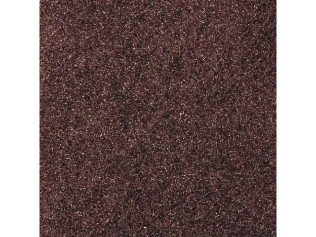 Carpet, Standard Cut Pile Nylon, Molded, Walnut, Incl