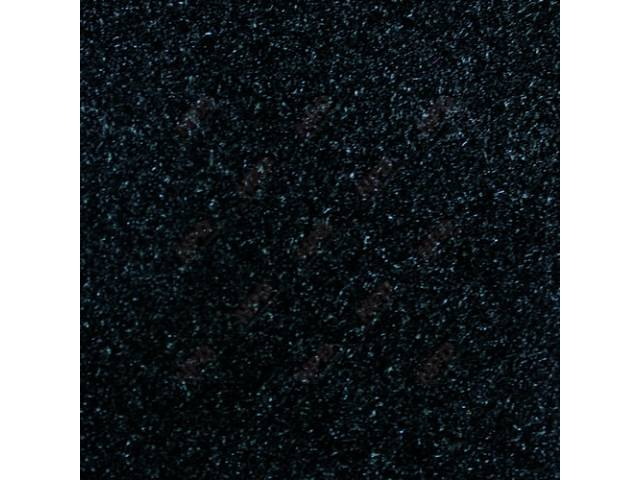 Carpet, Standard Cut Pile Nylon, Molded, Black /