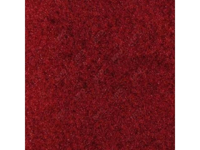 Carpet, Standard Cut Pile Nylon, Molded, Bright Red,