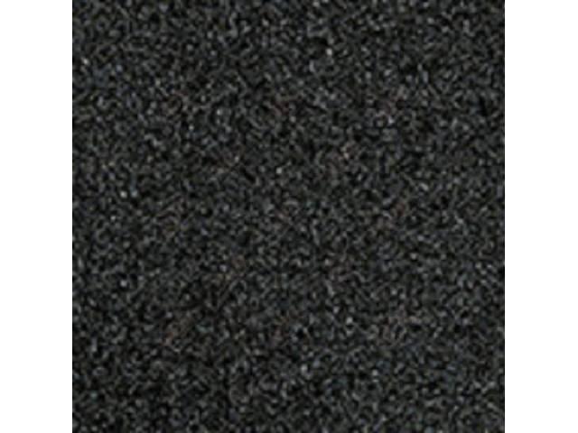 Carpet, Standard Cut Pile Nylon, Molded, Dark Charcoal,