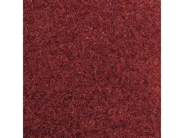 Floor Mats, Carpet, Cut Pile Nylon, Canyon Red,