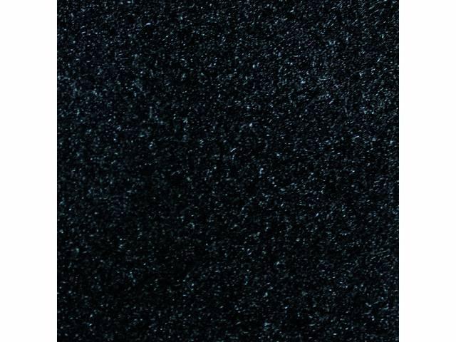 Floor Mats, Carpet, Cut Pile Nylon, Black, W/
