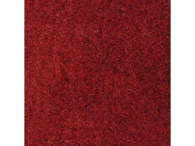 Floor Mats, Carpet, Cut Pile Nylon, Scarlet Red,