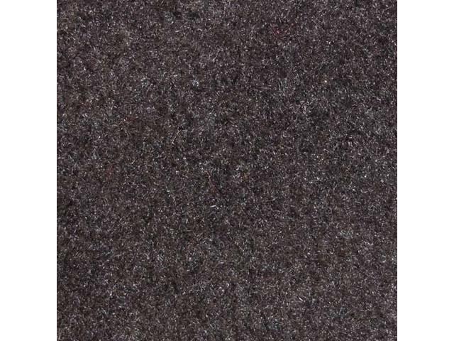 Floor Mats, Carpet, Cut Pile Nylon, Charcoal Gray, W/ Black *Cobra * Text, Repro, Nibbed Backing For Non-Slip Design