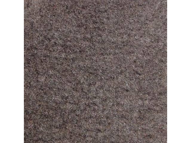 Floor Mats, Carpet, Cut Pile Nylon, Smoke Gray,