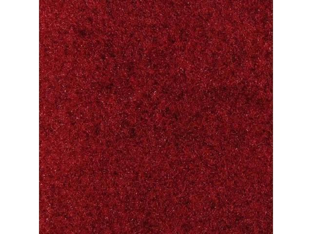 Floor Mats, Carpet, Cut Pile Nylon, Medium Red,