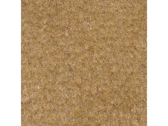Floor Mats, Carpet, Cut Pile Nylon, Desert Tan, W/ Black *Cobra * Text, Repro, Nibbed Backing For Non-Slip Design