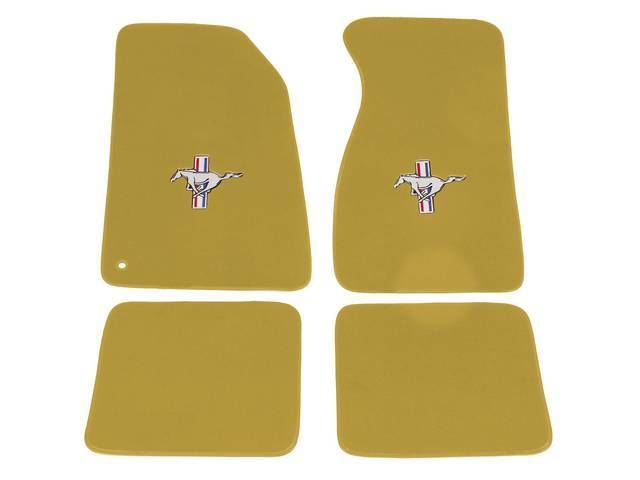 Floor Mats, Carpet, Cut Pile Nylon, Medium Parchment,