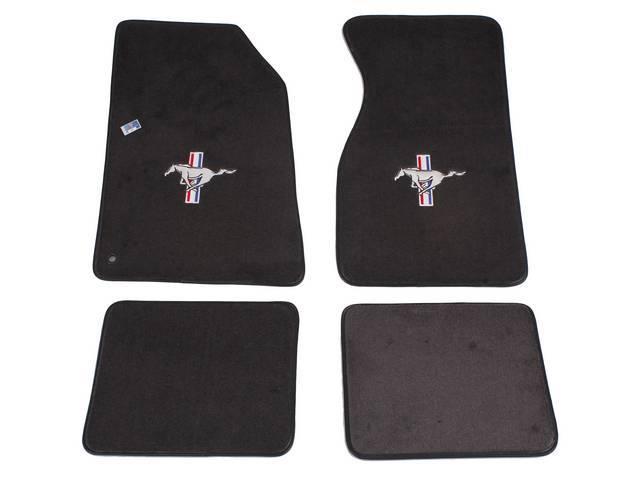 Floor Mats, Carpet, Cut Pile Nylon, Dark Charcoal,