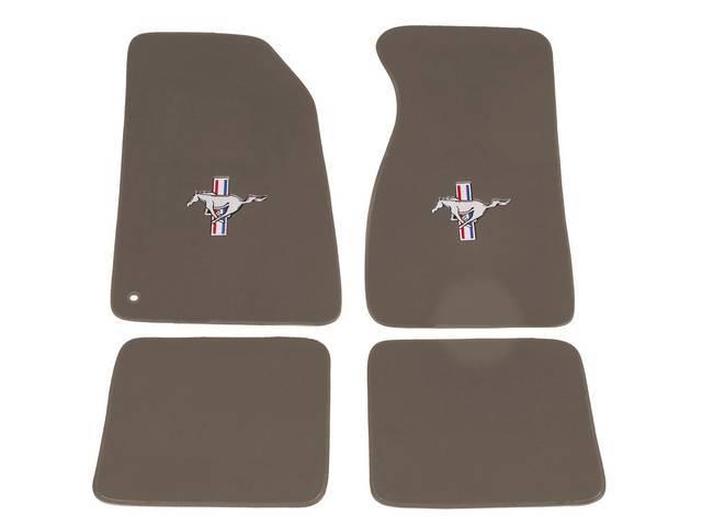 Floor Mats, Carpet, Cut Pile Nylon, Medium Graphite,