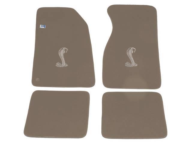 Floor Mats, Carpet, Cut Pile Nylon, Saddle, W/